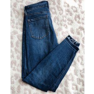 Loft Modern Skinny Jeans. Raw hem.